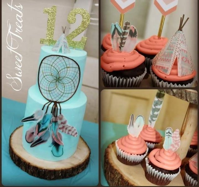 Cotton Candy Feathers, Dreamcatcher & Tribal Pastel Teepee's
